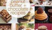 25 céleste au beurre d'arachide et chocolat Recettes