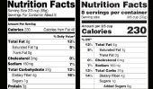 FDA pour Offrir Nutrition Labels Major Makeover: 3 choses à regarder dehors pour