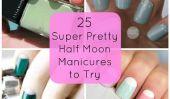 25 super jolie Half Moon Manucure pour essayer