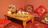 Design d'intérieur asiatique dans le salon fournir - suggestions