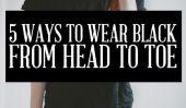 Noir est le nouveau noir: 5 façons de porter cette Neutre de la tête aux pieds