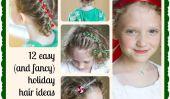 12 Easy (et de fantaisie) Idées vacances Cheveux pour les petites filles