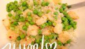 Recevez dans votre ventre: beurre de citron crevettes et petits pois au chou-fleur riz