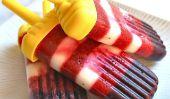 Healthy rouge, blanc et bleuets Popsicles