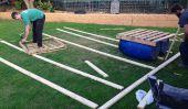 Comment construire un ponton Transportable radeau avec des vieilles palettes et 55 Gallon Plastic Drums