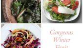 Salades rapides et faciles proposant des fruits d'hiver!