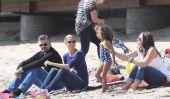 Heidi Klum et ses enfants ont plaisir à la plage!  (Photos)