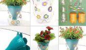Bricolage - Pot de fleurs fabriqué à partir de bouteilles en plastique