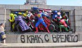 Le Monument peinte à l'armée soviétique en Bulgarie