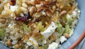Salade de quinoa et de poireaux sautés et feta