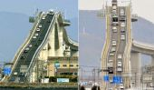 Eshima Ohashi Bridge à Matsue, Japon