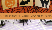 10 idées rapide et facile Halloween Party DIY For Kids