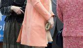 Kate Middleton enceinte bosse de bébé commence à être grande!  (Photos)