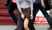 Jambes!  Célébrités qui ne sont pas peur de montrer leurs tiges dans jupes fendues (Photos)