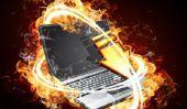 Ordinateur portable fonctionne accidents chauds et - que faire?