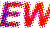 Badoo: point bleu - qui représente les points de couleur