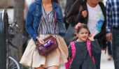 Katie Holmes et sa fille Suri Cruise repéré avec jupes courtes!  (Photos)