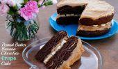 Peanut Butter Chocolate Banana gâteau de crêpes