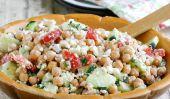 Feta et pois chiches Salade
