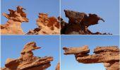 Formations rocheuses fantaisistes à Little Finlande, Nevada