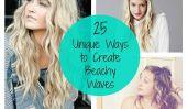 25 moyens uniques pour créer des vagues Beachy