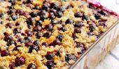 Bleuets et au citron cuit avoine: Un petit-déjeuner Fave