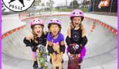 Rose Casque Posse: Ces Trois 6 ans Skater filles sont comme Totally Rad!