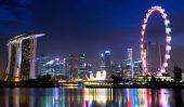 Singapore Flyer - une des plus grandes roues Ferris dans le monde