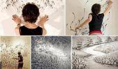 Peintures Finger étonnants sur mur par Judith Braun