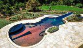 Impressionnantes Piscine: Réplique d'un violon Stradivarius