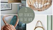 25 Trendy façons de décorer votre maison avec corde