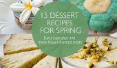 15 Recettes de desserts pour le printemps