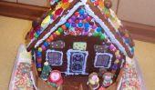 idées de bricolage pour enfants à Noël - une maison en pain d'épice va comme ceci