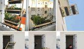 """Créez un minuscule terrasse pour surélevé Appartements avec «végétal de Volet"""""""