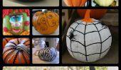 22 Idées Non-Carve décoration de citrouilles