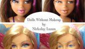 Poupées avec et sans maquillage par Nickolay Lamm