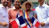 Jour dominicaine Parade 2014 à New York: milliers de personnes participent Parade, Excitation Partager sur les médias sociaux
