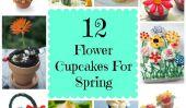 12 Facile fleurs Cupcakes pour le printemps Parties