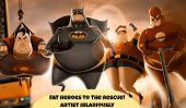 Heroes Fat Rule!  Artiste Hilariously Reimagines 4 Superheroes avec Appetites Supersized