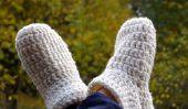 Chaussettes Crochet pantoufle - donc réussit de