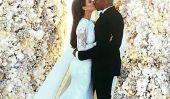 Photo de mariage de fissures Kim Kardashian et Kanye West Instagram fiche