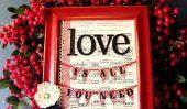 20 Couronnes Saint-Valentin jolie pour bricolage