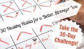 Prenez le Défi 30 jours: 30 habitudes saines pour un meilleur, plus fort