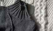 Instructions pour tricoter un col roulé