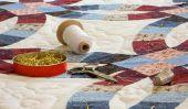 Les instructions de couture pour une boucle - afin de gérer la version patchwork avec des morceaux de tissu