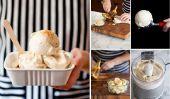 Crème Crème glacée de bricolage avec un seul ingrédient