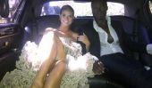 Red Carpet Style de: Heidi Klum Tweets Pic de sa robe Christian Siriano (All Those volants!)