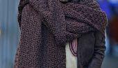 Rester au chaud: Célébrités qui Wrap Up With foulards élégants (Photos)
