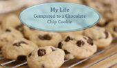 Vie est d'environ les pépites de chocolat
