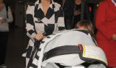 Kim Kardashian enceinte reste à la maison alors que sa famille Takes On Londres (Photos)